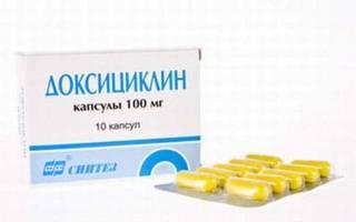 Доксициклин при укусе клеща как принимать