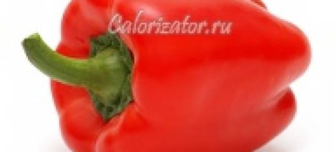 Болгарский перец сладкий красный, сырой желтый: калорийность, химический состав и пищевая ценность