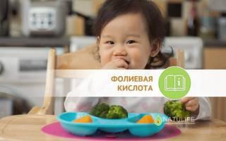 Фолиевая кислота для детей: польза, как принимать