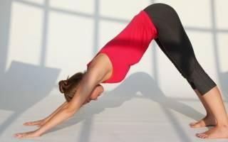 Позы йоги от депрессии Адхо Мукха Шванасана собака мордой вниз, поза собаки в йоге