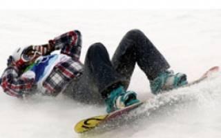 Какие травмы получают сноубордисты, как предотвратить травмы на сноуборде