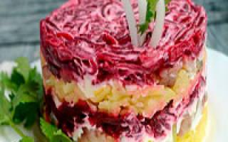Калорийность селедки под шубой – состав, польза и рецепт