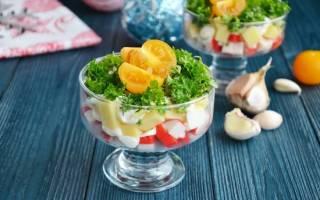 Крабовый салат с кукурузой, из крабовых палочек и майонеза: калорийность на 100 грамм и пищевая ценность
