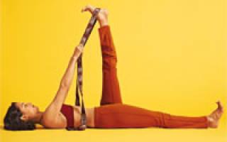 Позы йоги: Супта Падангуштхасана (Наклон с захватом большого пальца ноги)
