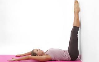 Позы йоги для начинающих: Випарита Карани (Поза согнутой свечи)