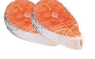 Семга свежая, слабосоленая, филе: калорийность рыбы отварной и на пару и пищевая ценность продукта