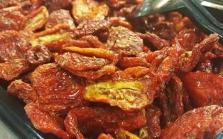 Сколько калорий в вяленых помидорах, рецепты с вялеными томатами