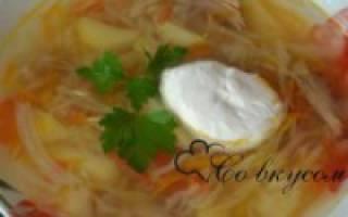 Калорийность щей из свежей капусты с говядиной, свининой, курицей и пищевая ценность супа щи с капустой