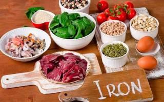В каких продуктах много железа, список богатых железом продуктов (таблица)