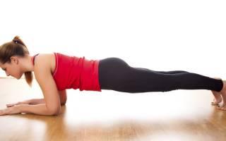 Статические упражнения от живота и боков