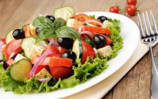 Калорийность и состав салата греческого – сколько калорий в одной порции классического салата