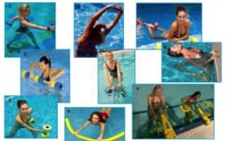 Комплекс упражнений по аквааэробике для самостоятельного выполнения