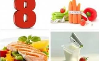Диета 8 – меню на неделю, рецепты, рекомендации по питанию