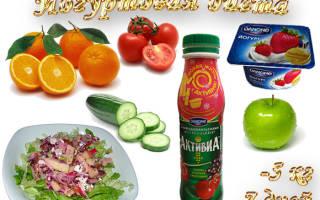 Фруктово-йогуртная диета для похудения – меню