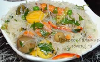 Фунчоза по корейски калорийность на 100 грамм бжу и полезные свойства