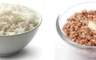 Рисово-гречневая диета, что лучше рисовая или гречневая диета